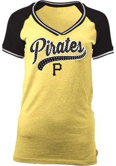 Pitt Pirates Womens Gold Opening Night V-Neck