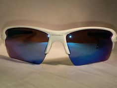 8707f973e0 New Oakley Flak 2.0 XL Matte White Frame Sapphire Iridium Lenses.  fashion