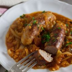 Sausage and red lentil casserole by Recipes Made Easy - perfect for a midweek family meal.