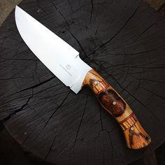 """11.5"""" L6 RODREK DRENGR, with Oak/Zebrawood & Paper Micarta liner #knives…"""