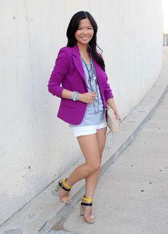 purple blazer. « jenny in jacquard