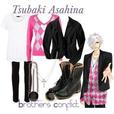 """Asahina Tsubaki, from Brothers Conflict"" by blackrabbitmegapig on Polyvore"