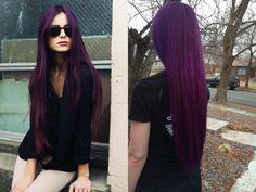 Five Unbelievable Facts About Purple Hair Color For Dark Hair Plum Violet Hair, Dark Purple Hair Color, Violet Hair Colors, Black Hair Dye, Dyed Hair Purple, Dyed Hair Pastel, Bright Hair Colors, Dark Hair, Blonde Hair