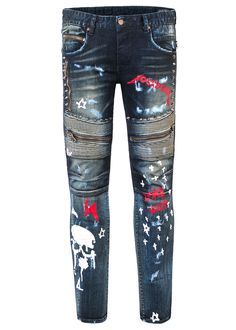 Rockstar Original jeans have a reinforced, ribbed topstitching combined with the articulating knee panels to provide the Bowie (dark) jeans with a cool and edgy look. Kids Pants, Boys Jeans, Rock Star Outfit, Edgy Look, Dark Jeans, Bowie, Outfits, Fashion, Moda