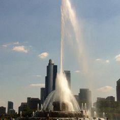 Buckingham Fountain Grant Park Buckingham Fountain, Grant Park, Chicago Illinois, Seattle Skyline, Niagara Falls, Cities, World, Sweet, Travel