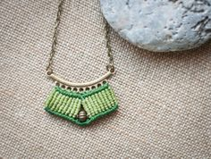 Egyptian Hippie Micromacrame necklace MADE TO by OuiClementine.