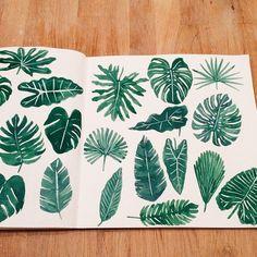 if u feel weird - Leah Goren ( ) Leah Goren, Leaves Doodle, Easy Drawings For Kids, Leaf Drawing, Watercolor Leaves, Watercolour, Animal Activities, Art Sketchbook, Botanical Illustration