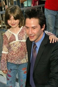 "Keanu Reeves on the most important thing of being a father: ""To be around for your child and not be a stranger. If you plan to be a parent you have to be willing to be committed. Children take priority in your life, or at least they should."""