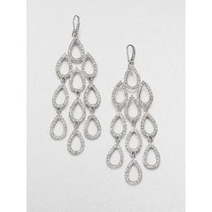 ABS by Allen Schwartz Jewelry Pave Chandelier Earrings ($55) ❤ liked on Polyvore