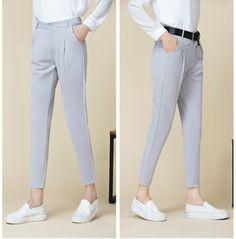 CW68567 Student feet harem pants all-match loose nine pants