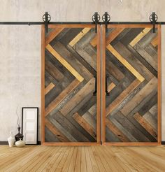 Barn doors today are becoming part of interior decoration in many houses because they are stylish. When building a barn door on your own, barn door hardware kit Sliding Barn Door Hardware, Sliding Doors, Front Doors, Garage Doors, Hanging Barn Doors, Barn Door In House, House Front, Interior Barn Doors, Wooden Doors