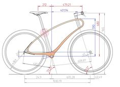 Wooden Bicycle, Wood Bike, Specialized Bikes, Fat Bike, Bike Frame, Bicycle Design, Technical Drawing, Electric Scooter, Bike Life