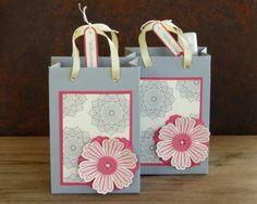 zeit-zum-basteln.de - Geschenktüten / gift bag - Stampin Up Mixed Bunch & Sonnenschein - Simply pressed clay - button
