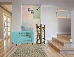 Altijd al een warm welkom willen hebben, voeg dan kleur toe in jouw hal. Ga bijvoorbeeld voor een opvallende stoel en laat deze kleur terug komen in een mooi schilderijtje aan de wand.