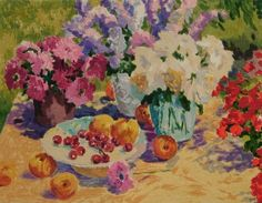 TABLE IN SUMMER I 30 X 39.5 cm ORIGINAL LIMITED EDITION PRINT
