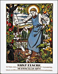 Saint Fiacre Patron Saint of Gardeners and Florists by Donatello88, $14.99