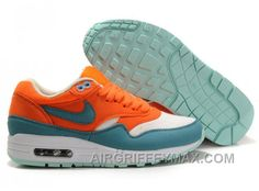 buy popular a6aaa 99fb1 308866 800 Women Womens Nike Air Max 1 Bright Mandarin Mineral Blue  AMFW0327 New Arrival
