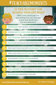 #TeachableMoments: 10 Tips to start the school year off right