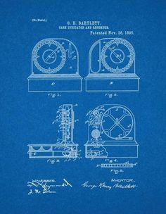 Cash register patent drawing blueprints as art pinterest cash register patent print art poster blueprint 85 x malvernweather Image collections