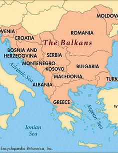 Territories whose borders lie entirely within the Balkan Peninsula: Albania, Bosnia and. Geography Map, World Geography, Macedonia Skopje, Romania Map, Italy Map, Country Maps, Bosnia And Herzegovina, Eastern Europe, Montenegro Map