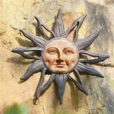 Rustic Sun Wall Decor Metal Garden Art Sculpture Patio Accent Outdoor Plaque NEW Sun Moon Stars, Sun And Stars, Sun Wall Decor, Moon Decor, Metal Garden Art, Sun Art, Wall Sculptures, Wood Sculpture, Wall Plaques