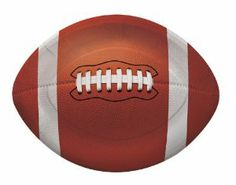 """Creative Converting Football Shaped Dessert Paper Plates (8 Count) by Creative Converting. $4.89. The perfect supplies for your tailgating, Bowl game or sports themed party - show your team spirit and pride. 8 count. Measures 6"""" x 8.75"""". See Creative Converting's coordinating line of party favors and dinnerware - inflatable fingers, wrist bands, head bands, pom poms, cheer sticks, cups, plates, napkins, chip trays and décor. Football shaped small dessert plate..."""