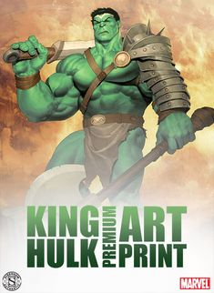 Marvel King Hulk Premium Art Print by Sideshow Collectibles | Sideshow Collectibles