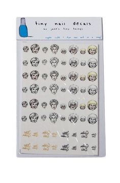 Golden Girls Nail Decals: http://shop.nylon.com/collections/whats-new/products/golden-girls-nail-decals #NYLONshop