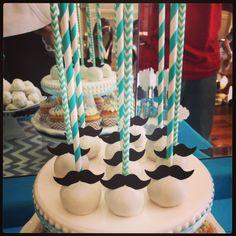 Little Man Mustache Cakepops