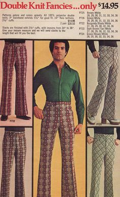 1970s Men's Fashion, I actually had a pants like this.