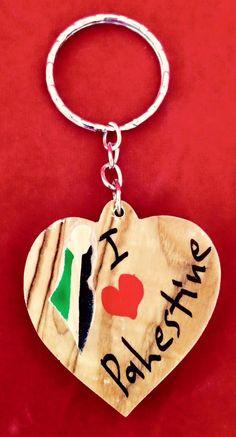 Handmade Olive Wood Key Chain No : 452 Height * width 7 cm * 2 cm