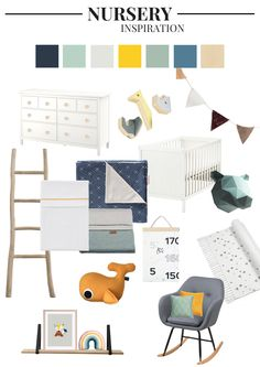 Nursery Inspiration Gender Neutral. Tap for details! | Go Mommy Go