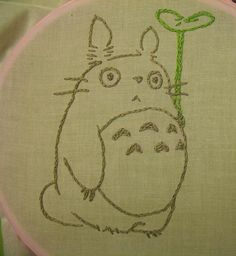 totoro+embroidery