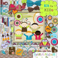 Scrapbooking TammyTags -- TT - Designer - Regina Falango,  TT - Item - Kit or Collection, TT - Kit Name - Kit for Kids