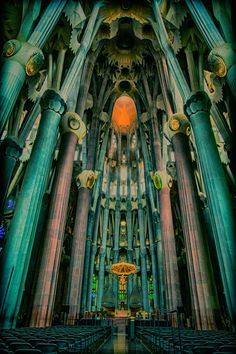 Gaudi loved nature--the columns represent trees and branches.