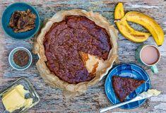 Banana Caraway cake by JasmineHemsley Lactose Free Recipes, Vegan Gluten Free, Jasmine Hemsley, Real Food Recipes, Dessert Recipes, Cake Recipes, Dairy Free Options, Vegan Treats, Vegan Desserts