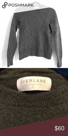 Everlane dark gray wool sweater A thick wool / very high quality dark gray sweater from Everlane. It says a medium but it's more like a small/medium. An absolutely beautiful sweater. Also the color is more true in the pic with the tag - my lighting didn't capture the color that well. There's no fading and it's a more dark gray tone. Everlane Sweaters Crew & Scoop Necks