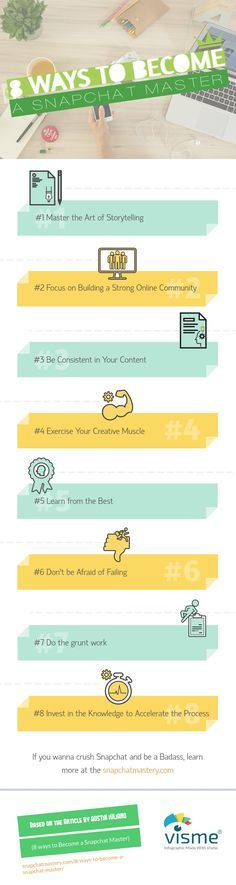 8 ways to Become a Snapchat Master (infographic)