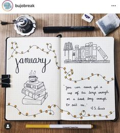 It's almost the New Year, y'all! I feel like December just FLEW by! I have all my 2020 bullet journal spreads set up, but I'm still working on January! In case you're a little behind like me, I have some inspiration for your January themes and cover pages! Reading Bullet Journal Theme @bujobreak Belle Bullet Journal Cover @julia.pezowicz Llama Bullet Journal Theme @mybujotrip Snowy Street Bullet Journal Theme @productivedoodling Pastel Winter Scene Cover Page @myrthesbujo New Moon Cover Page… Bullet Journal School, Bullet Journal Inspo, Journal D'inspiration, Minimalist Bullet Journal, Bullet Journal Spreads, Bullet Journal Headers, Bullet Journal Cover Ideas, January Bullet Journal, Bullet Journal Notebook