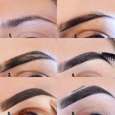 Make Up; Make Up Looks; Make Up Augen; Make Up Prom;Make Up Face; How To Trim Eyebrows, Filling In Eyebrows, Arched Eyebrows, High Arch Eyebrows, Eyebrow Makeup Tips, Skin Makeup, Eyebrow Pencil, Makeup Steps, Makeup Eyebrows