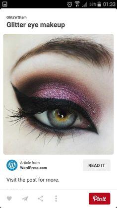 Pinky purple smokey eye