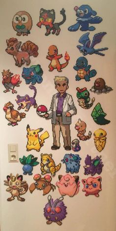 Pokemon perler beads by Unpixable