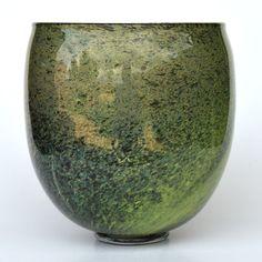 """Bernard Heesen - """"schimmelglas"""" vaas Art Nouveau, Blown Glass Art, Glass Ceramic, Vase, Ceramics, Beautiful, Antiques, Collection, Design"""