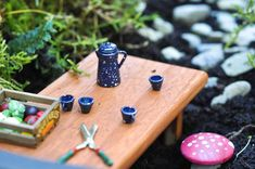 make your own toadstools for your fairy garden, crafts, gardening, Fairies love to perch upon toadstools while having tea in their garden