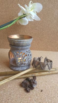 Bracciale wire in alluminio color bronzo handemade free nichel