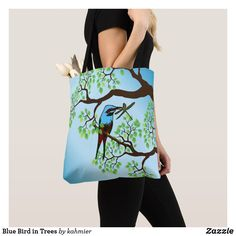 Blue Bird in Trees T
