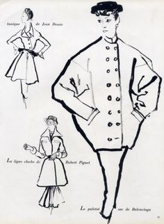Balenciaga 1950 Le Paletot-Sac Bernard Blossac
