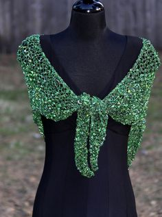 Sale Sale Sale  Rich Greens & Black Shawl w/ by SistersArtisans, $45.00