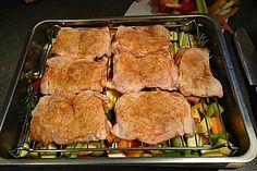 Hähnchenschenkel mit Ofen - Schmand - Gemüse, ein tolles Rezept aus der Kategorie Geflügel. Bewertungen: 251. Durchschnitt: Ø 4,5.