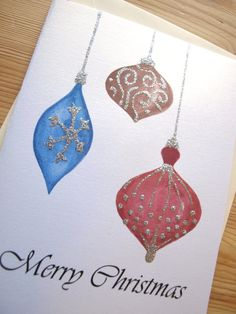 Assorted Christmas Cards Set of 4 Hand by EvelynIllustrations